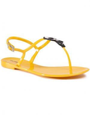 KARL LAGERFELD Sandały KL80060 Żółty