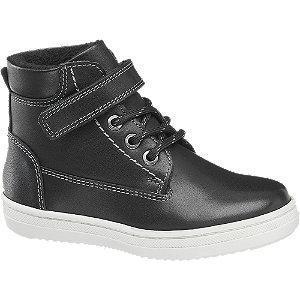 Czarne wysokie kozaczki dziecięce Bobbi-Shoes ze skóry
