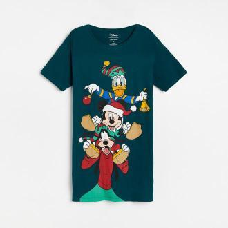 Reserved - Koszula nocna ze świątecznym nadrukiem Disney - Zielony