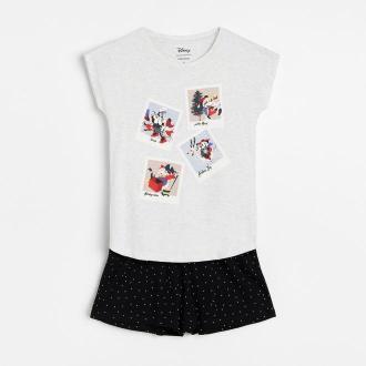 Reserved - Piżama ze świątecznym nadrukiem Disney - Jasny szary