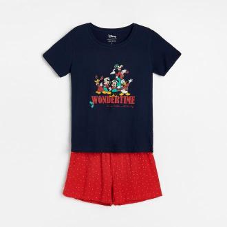 Reserved - Piżama ze świątecznym motywem Disney - Granatowy