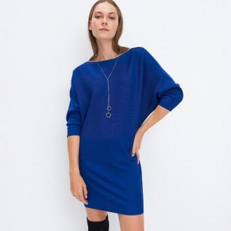 Mohito - Dzianinowa tunika - Niebieski