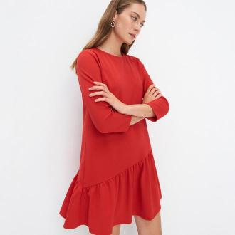 Mohito - Sukienka z falbaną Eco Aware - Czerwony