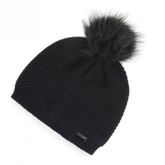Damska czapka z pomponem elegancka | WITTCHEN