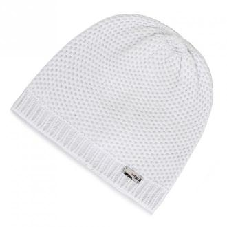 Damska czapka o drobnym splocie