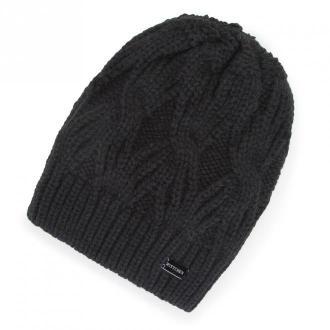 Damska czapka zimowa w warkocze