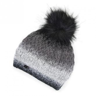 Damska czapka ombre z pomponem