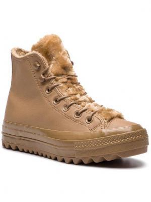 Converse Sneakersy Ctas Lift Ripple Hi 562424C Beżowy