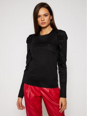 KARL LAGERFELD Bluzka Puffy Long Sleeve Top 206W1705 Czarny Regular Fit