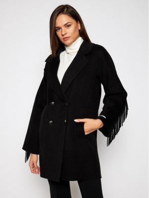 Marella Płaszcz przejściowy Colour 30860106 Czarny Regular Fit