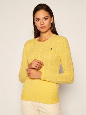 Polo Ralph Lauren Sweter Julianna Wool/Cashmere 211525764076 Żółty Regular Fit