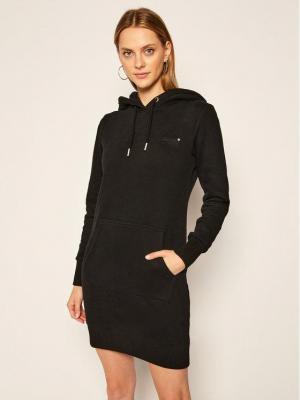 Superdry Sukienka dzianinowa Orange Label W8010375A Czarny Regular Fit
