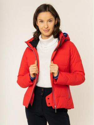 Descente Kurtka narciarska Seraphina DWWOGK52 Czerwony Regular Fit