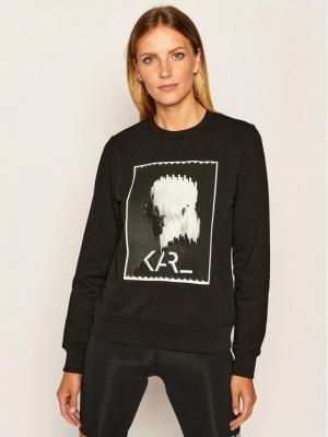 KARL LAGERFELD Bluza Legend Print 205W1812 Czarny Regular Fit