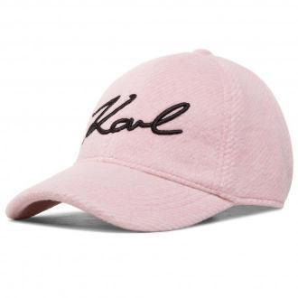 Czapka z daszkiem KARL LAGERFELD - 206W3408  Pink 510
