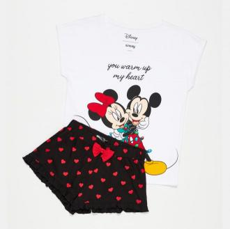 Sinsay - Piżama dwuczęściowa z Myszką Miki - Biały