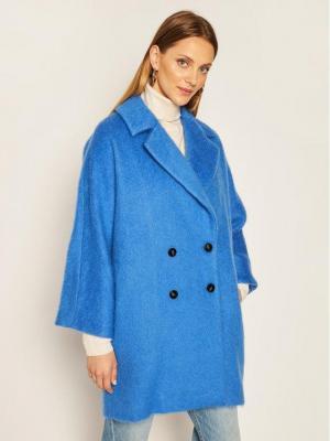 Marella Płaszcz przejściowy Nubie 30161408 Niebieski Relaxed Fit