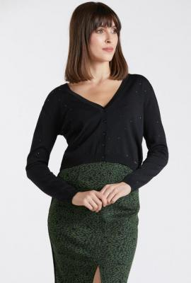Krótki sweterek z drobinkami