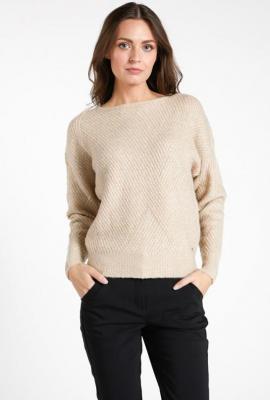 Klasyczny sweter o zbitym splocie