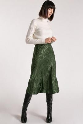 Spódnica z falbaną i ciekawym wzorem