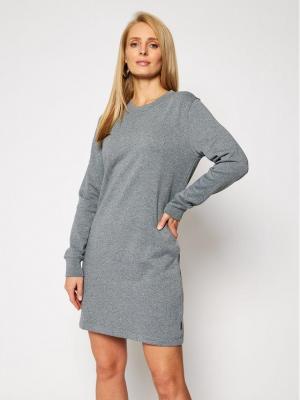 Calvin Klein Sukienka dzianinowa Ls Stud Logo Hwk K20K202420 Szary Regular Fit