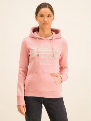 Superdry Bluza Premium Goods Luxe W2000087A Różowy Regular Fit