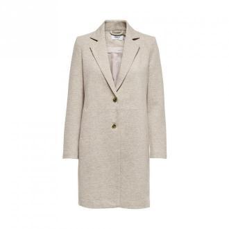 Only długi płaszcz Płaszcze Beżowy Dorośli Kobiety Rozmiar: 38