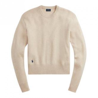 Polo Ralph Lauren Long Sleeve Sweater Swetry i bluzy Beżowy Dorośli