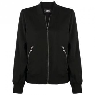 Karl Lagerfeld Bomber Jacket Kurtki Czarny Dorośli Kobiety Rozmiar: 40