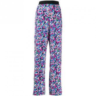 Karl Lagerfeld Floral Print Spodnie Spodnie Fioletowy Dorośli Kobiety