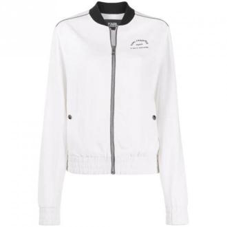 Karl Lagerfeld Bomber Jacket Kurtki Biały Dorośli Kobiety Rozmiar: 42