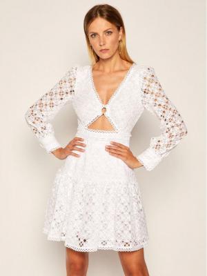 MICHAEL Michael Kors Sukienka letnia Medallion Lace MU08ZRPEUF Biały Regular Fit