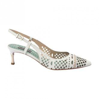 Baldinini Perforated leather shoes Obuwie Biały Dorośli Kobiety