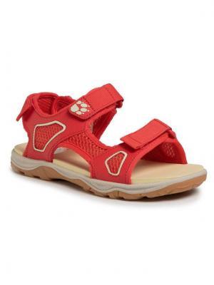 Jack Wolfskin Sandały Taraco Beach Sandal K 4039531 D Czerwony