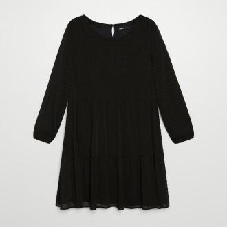 Cropp - Sukienka z tkaniny plumeti - Czarny