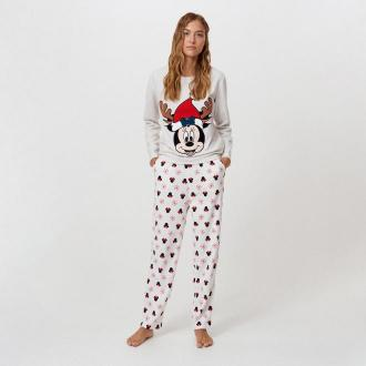 Cropp - Piżama ze świątecznym motywem Disney - Szary