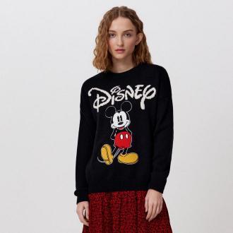 Cropp - Sweter z aplikacją Mickey Mouse - Czarny