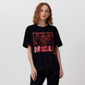 Cropp - Koszulka z nadrukiem Dracula - Czarny