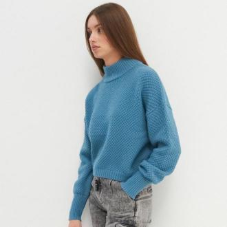 House - Sweter z półgolfem oversize - Turkusowy