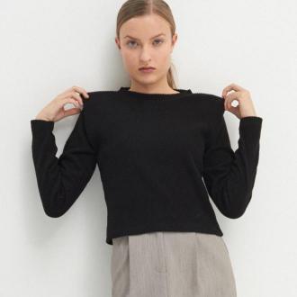 House - Sweter z poduszkami na ramionach - Czarny