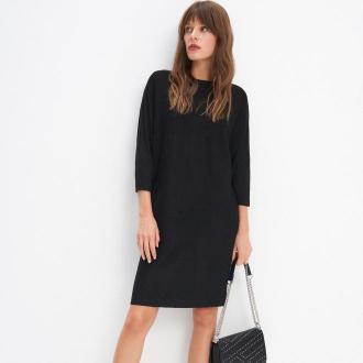Mohito - Swetrowa sukienka oversize - Czarny