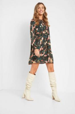 Luźna sukienka ze wzorem