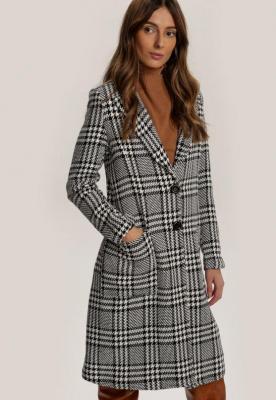Biało-Czarny Płaszcz Maplejacket
