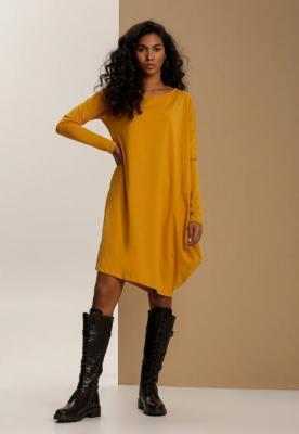 Żółta Sukienka Dzianinowa Queraele