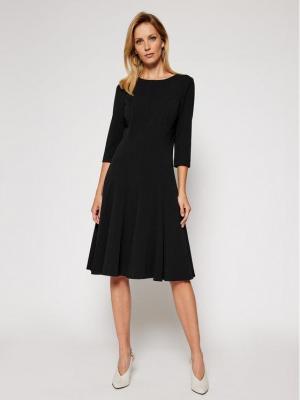 Calvin Klein Sukienka koktajlowa Scuba K20K202418 Czarny Regular Fit