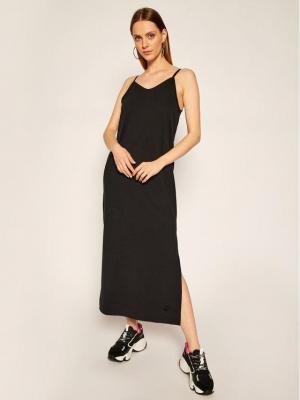 NIKE Sukienka dzianinowa Sportswear CJ3750 Czarny Standard Fit