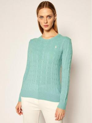 Polo Ralph Lauren Sweter Julianna Wool/Cashmere 211525764069 Zielony Straight Fit