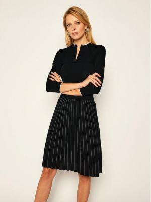 KARL LAGERFELD Sukienka dzianinowa Knitwear 206W1360 Czarny Regular Fit