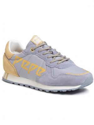 Pepe Jeans Sneakersy Verona W Logo PLS30984 Niebieski