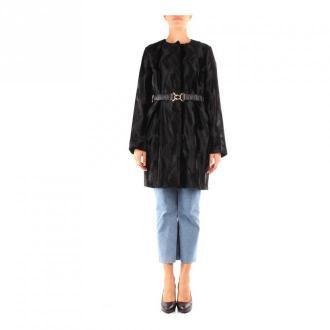Marella Pinto Long Woman Płaszcze Czarny Dorośli Kobiety Rozmiar: 42